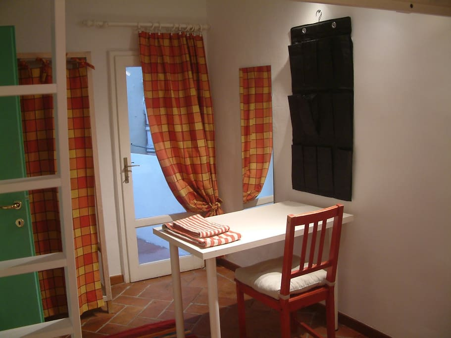 The nice room with bunk bed, the balcony