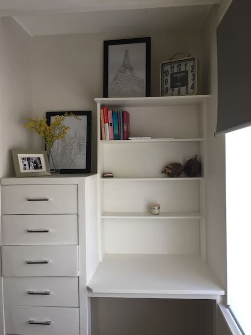 Your desk and drawers