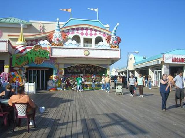 You'll want to go to the boardwalk.  Eight blocks north of our street.