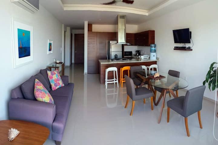 Bonito Departamento Nuevo, 2 habitaciones, alberca