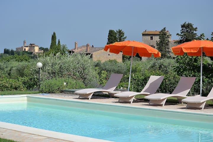 #1 Real Tuscan Apt Panoramic Pool - Montauto - Apartament