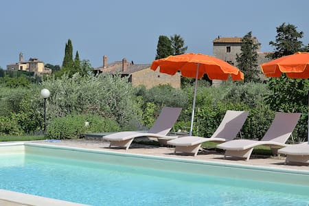 #1 Real Tuscan Apt Panoramic Pool - Montauto - Leilighet