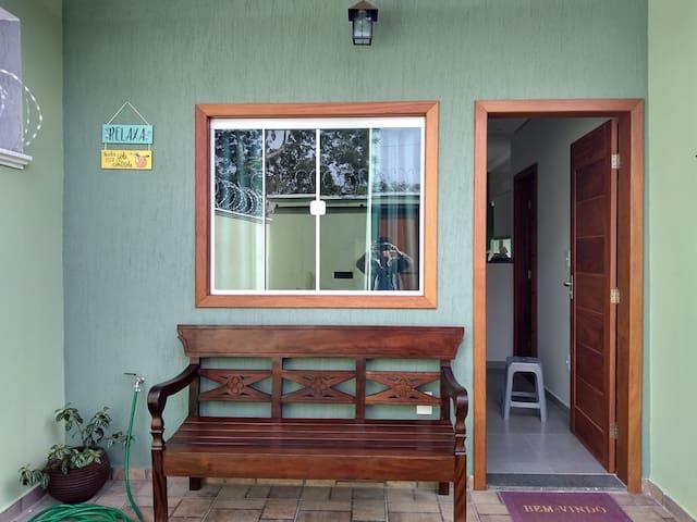 Casa agradável próximo à natureza
