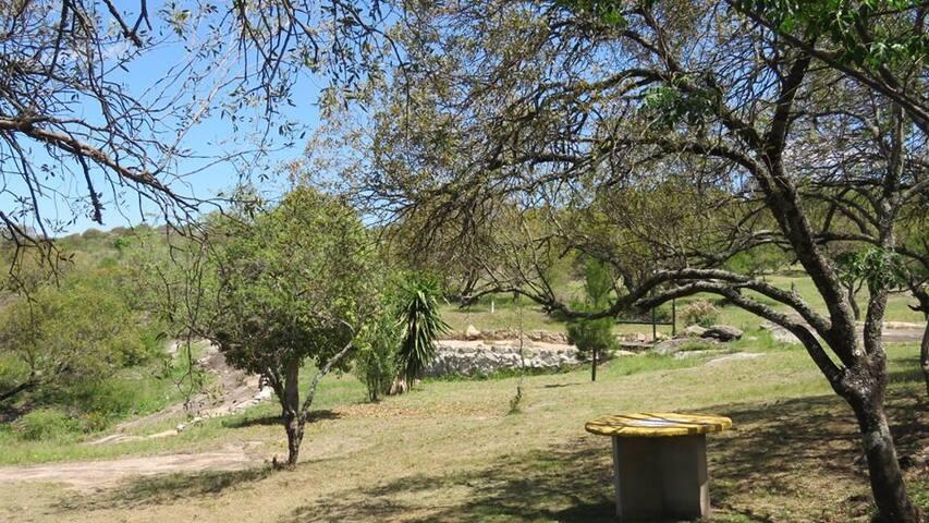 Zonas del parque perimetrado.