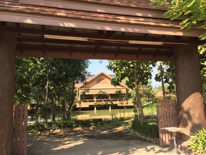 Idyllic hideaway writers' retreat in rice fields