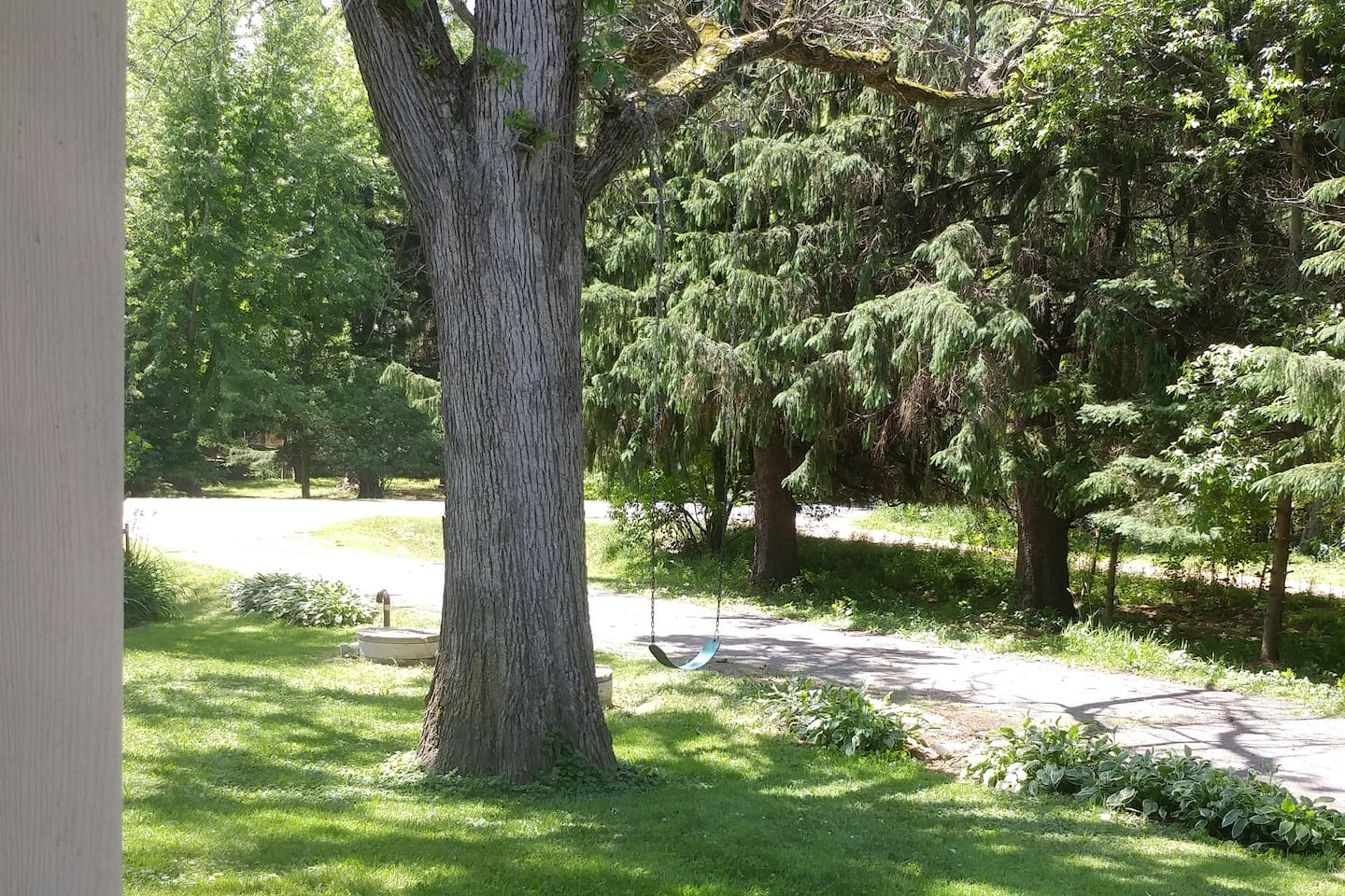 just outside of town with a large yard to enjoy,  2 bedroom suite 840 sq ft