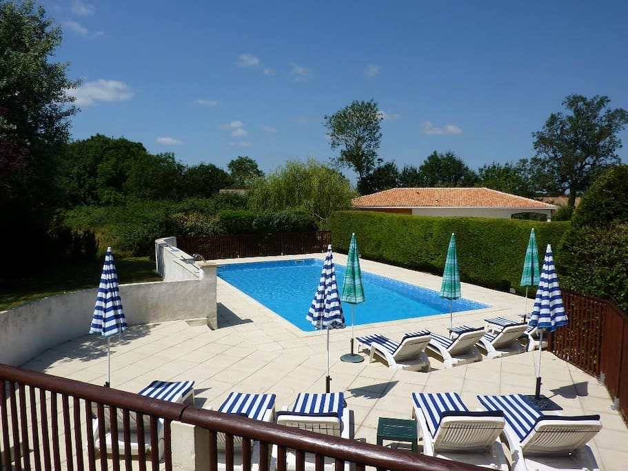 Large, Sunny and Terraced Pool