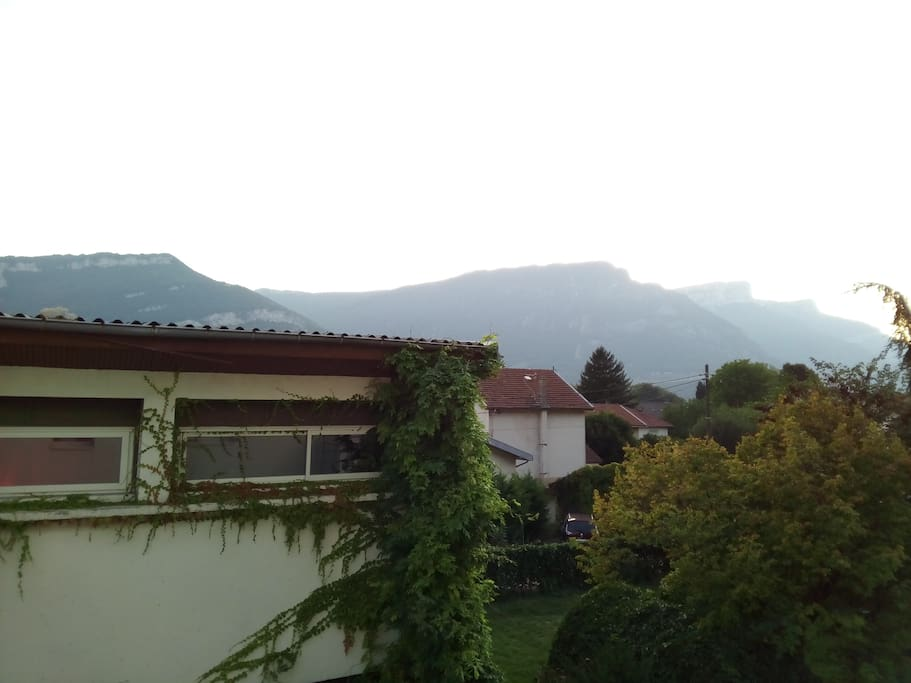 You can have this view to the Vercors from the bedroom! The building opposite cannot see to the room.
