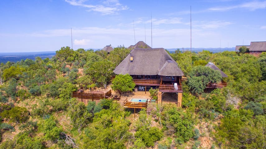 Private Bush Lodge set in Mabalingwe Game Reserve