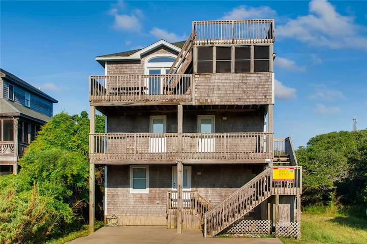 Lighthouse View! Oceanview-Pool, Hot Tub, Game Rm, Walk to Beach - 338