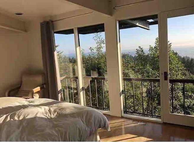 Guest bedroom receives lots of sunlight!
