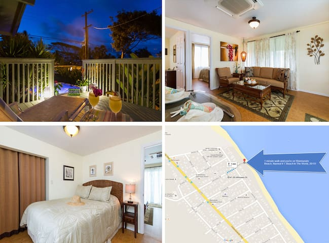 $201/NT Special April 21st~26th~ Luxurious Cottage - Waimanalo - Casa
