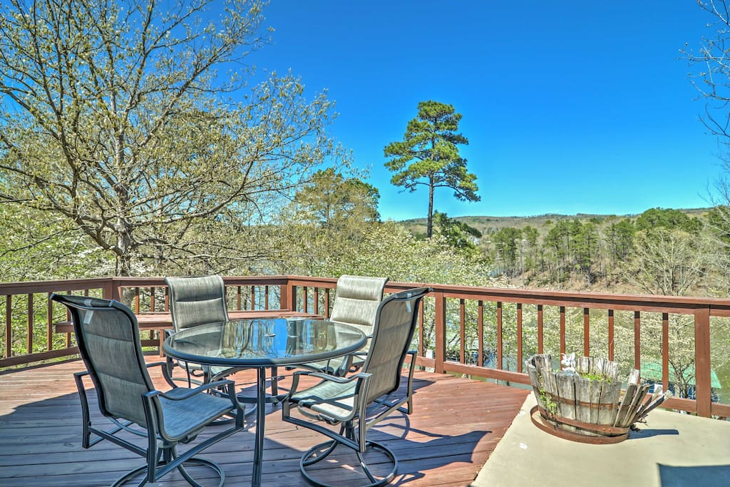 Enjoy beautiful views from the deck!