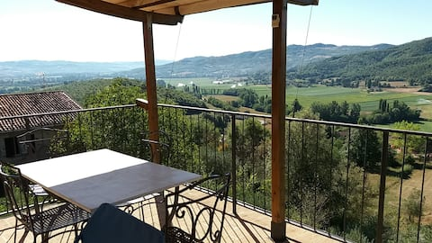 Die Terrasse im Tal mit exklusivem Pool