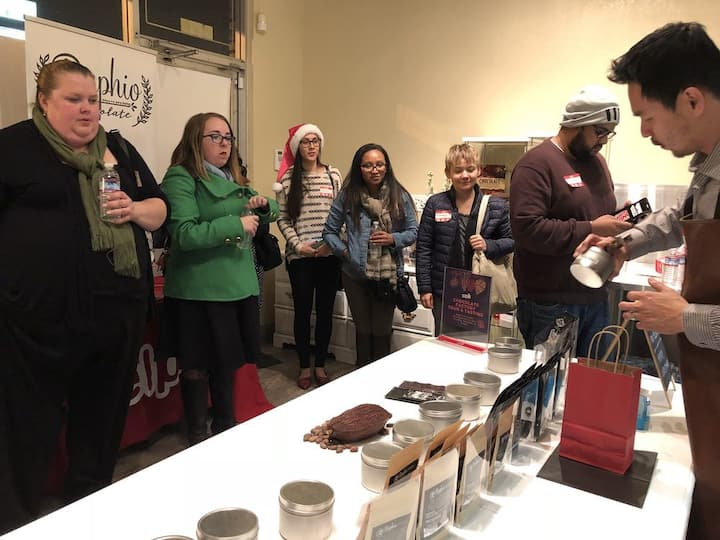Guests learning all things chocolate