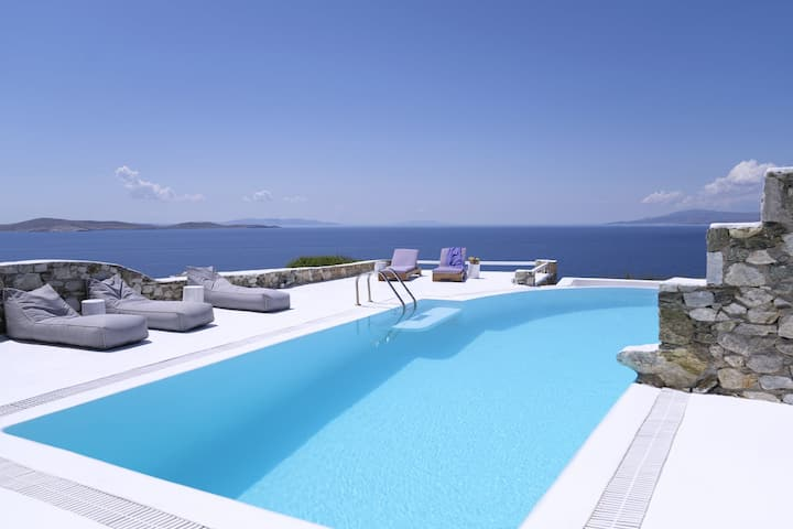 Villa Romina® Best sunset view near Mykonos town
