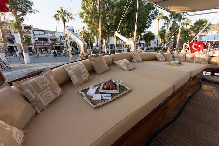 Luxury Wooden Private Yacht