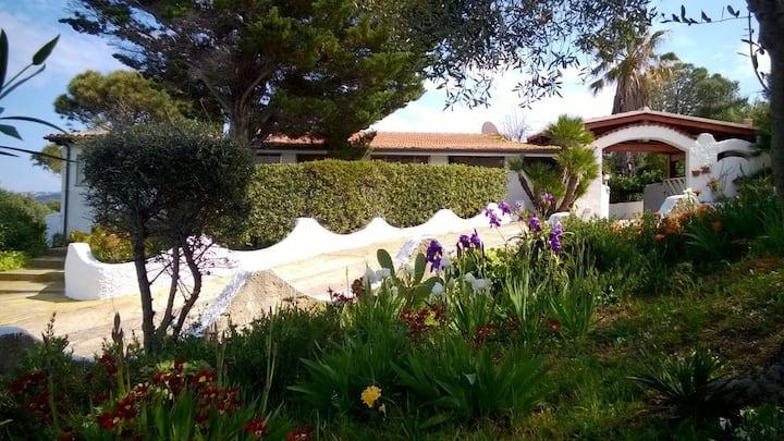 Villa panoramica con giardino a Isola Rossa