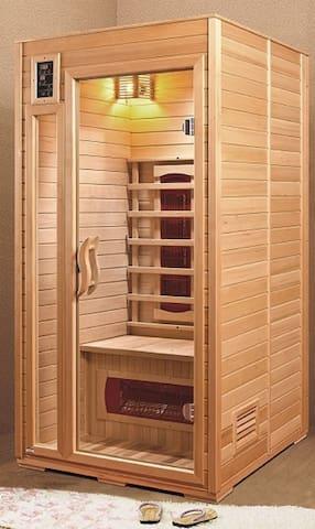 Apartmány Vlčková - ubytování Zlín - Javorový apartmán - Sauna použití zdarma