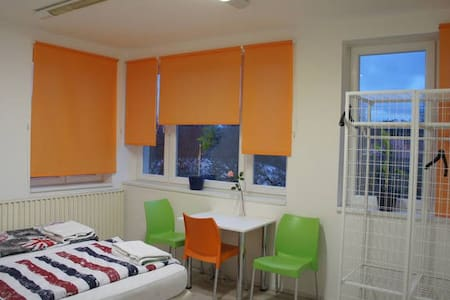 Cozy 2 bed studio in a guest house (free parking) - Prague