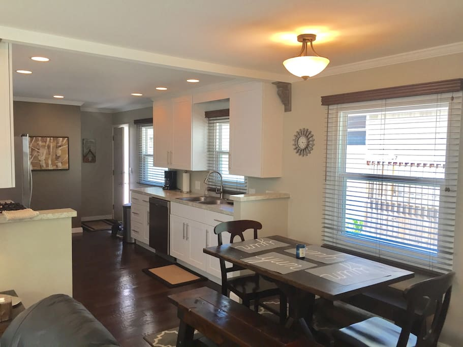 Large galley kitchen that opens to the living room!  Watch TV or enjoy some games while you cook or have snacks!