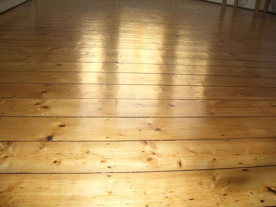 Beautiful hand finished wooden floors