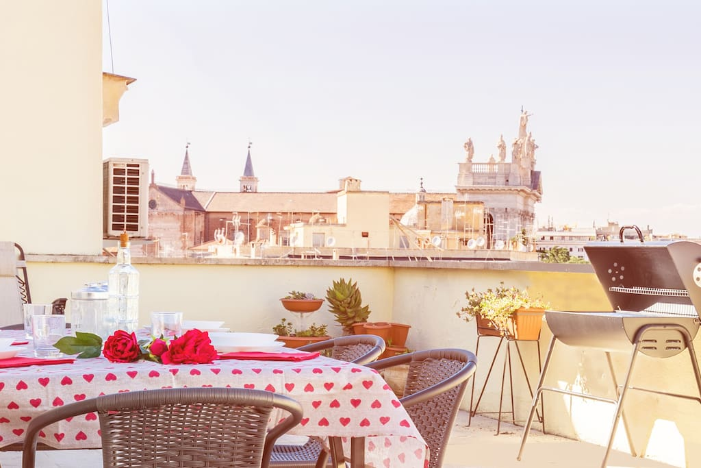 Rest and enjoy unforgettable dinners at sunset on the beautiful terrace overlooking two of the famous 7 churches...