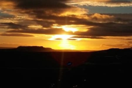 Syðri-Þverá beautiful mountain view to west