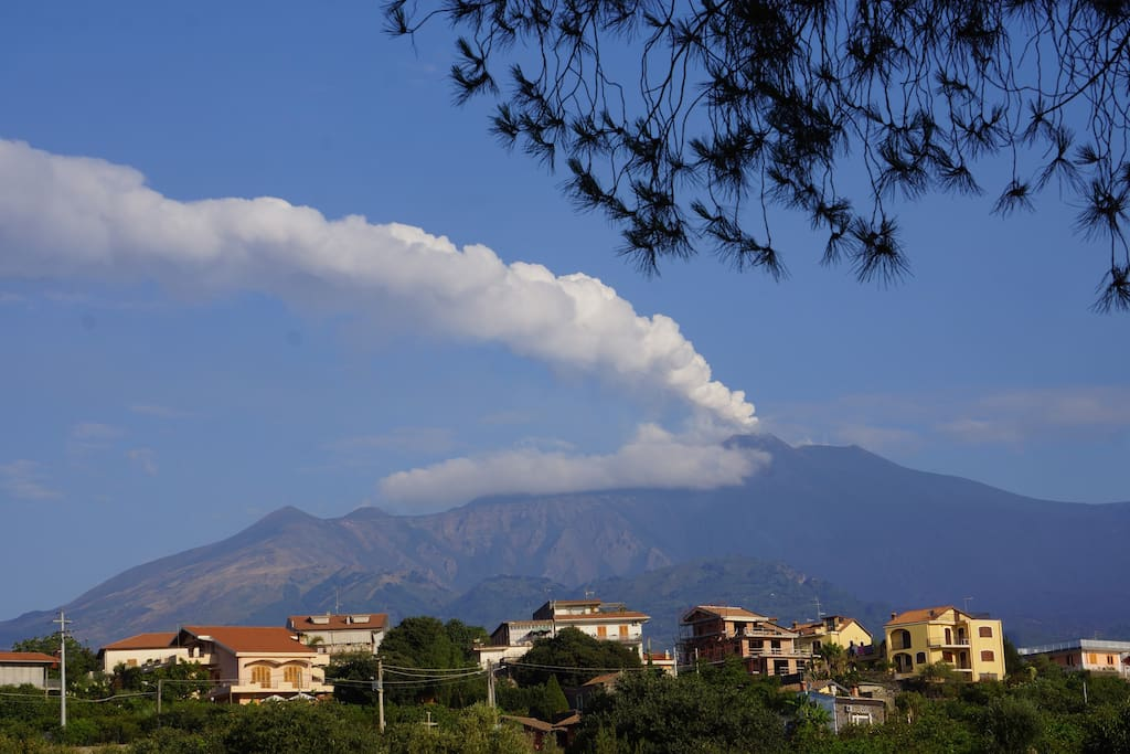 Mt. Etna from the Villa