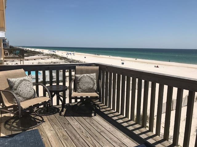 Sunrise Village #201 *** Private balcony right on the beach***