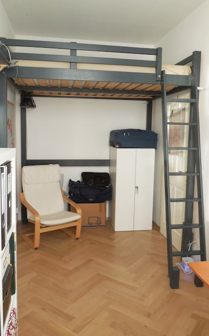 your room with the big twoperson loft-bed