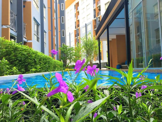 New/Pool/BTS/(B)@Central Wesgate - Nonthaburi - Apartamento