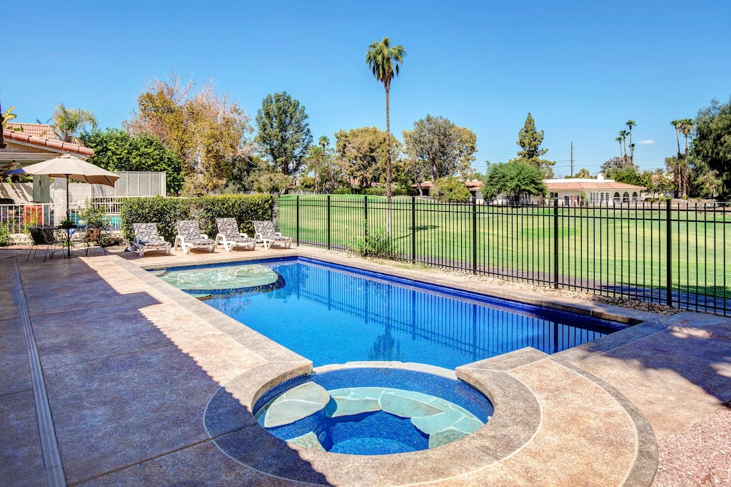 Heated Pool & Jacuzzi with Golf Course View
