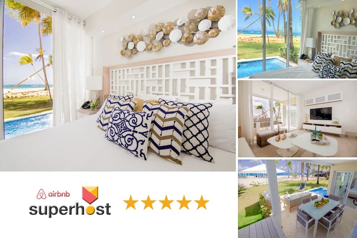 Lux Beachfront Condo w Private Pool @ Playa Dorada