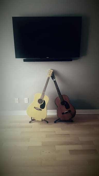 Smart TV, and you can feel free to play our guitars