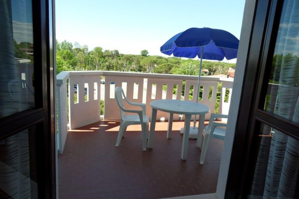 vista terrazzo dal soggiorno