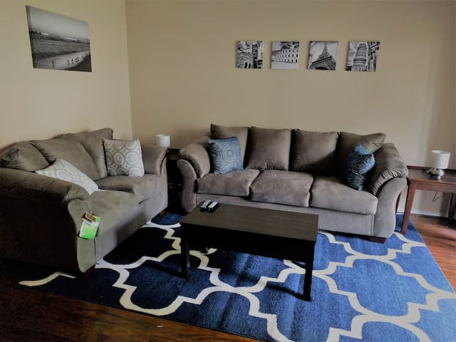 Living Room with brand new furniture