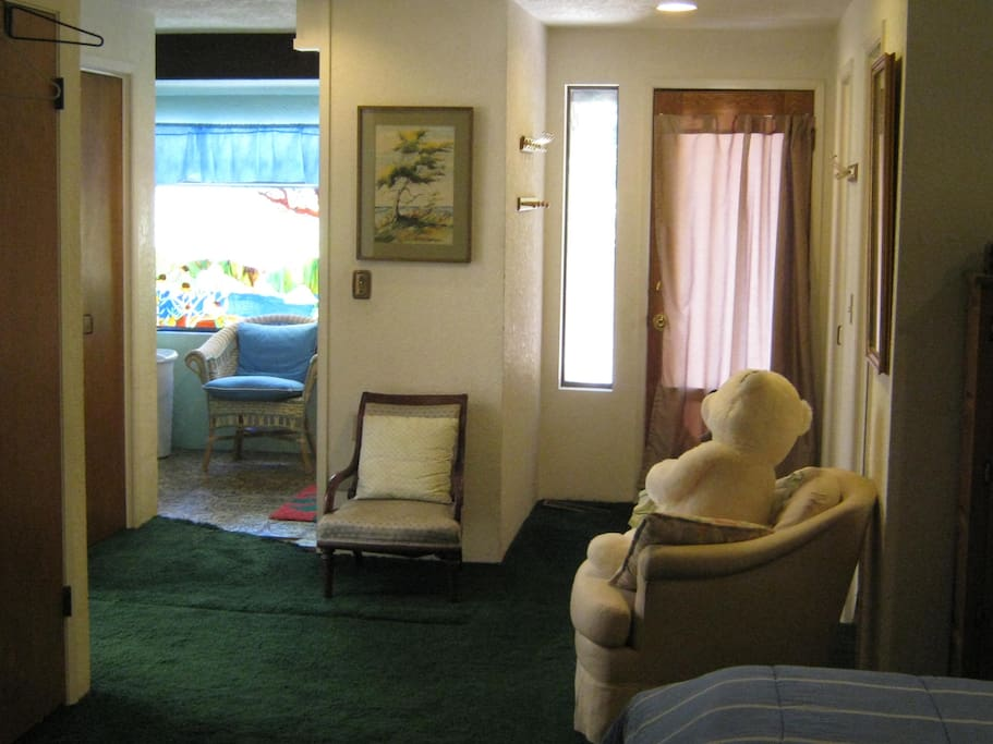 Sitting Area and Rear Entrance