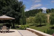 un vue de la terrasse