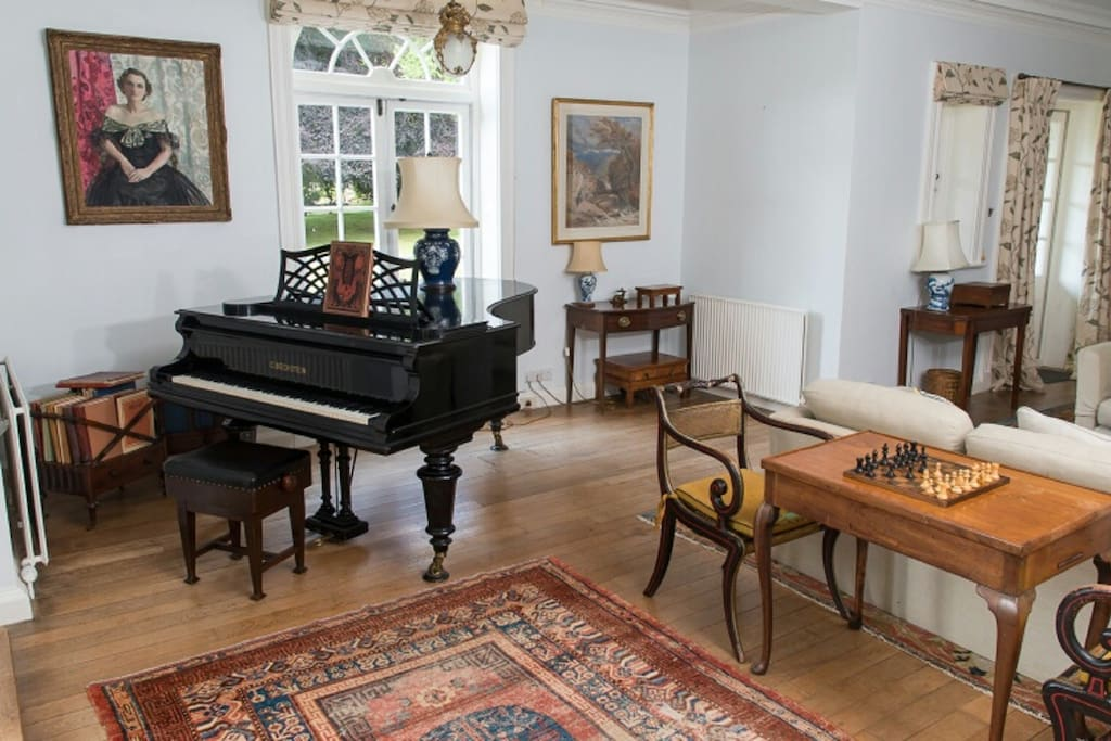 The Grand Piano is in the drawing room and available for guests to play.