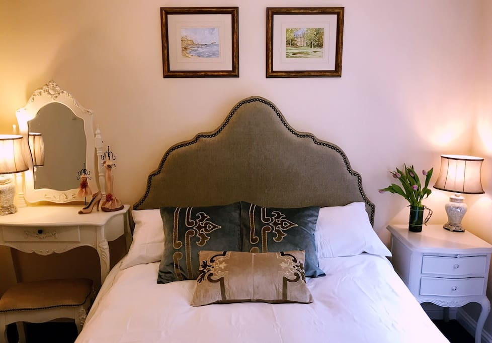 Brand new Double bed, dressing table, bedside
