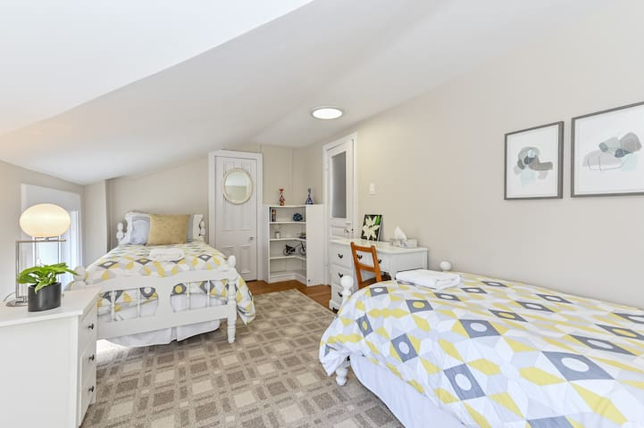 The second bedroom has two comfortable twin-sized beds.
