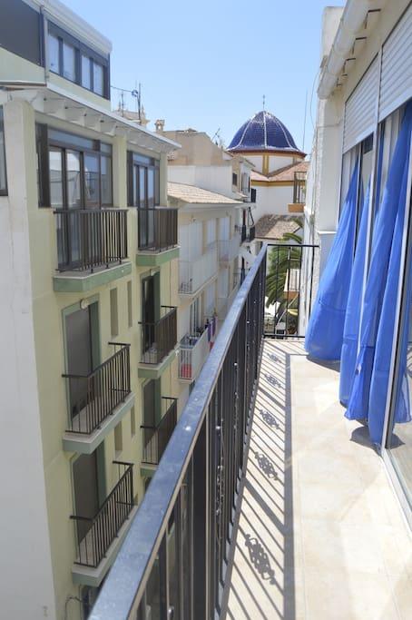 Balcón con vistas a casco antiguo.