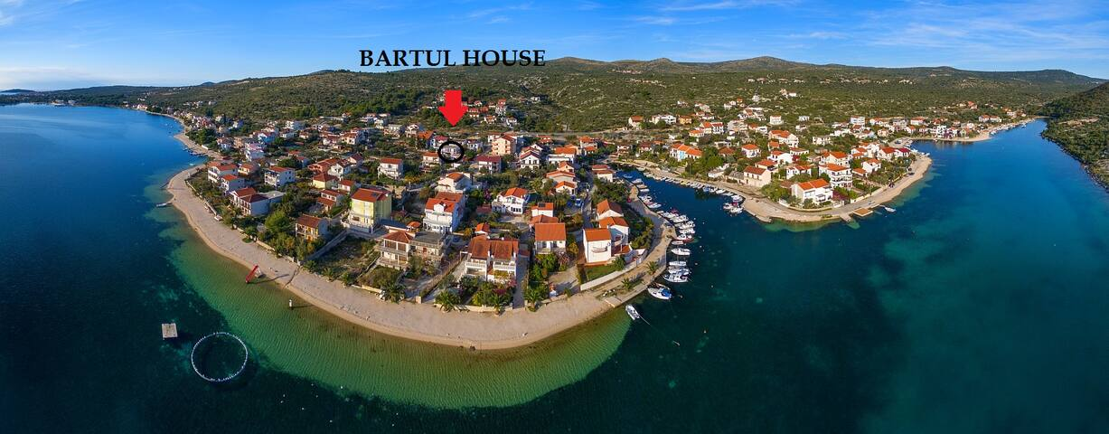Seaside adriatic apartmen near sea- Apart. Bartul