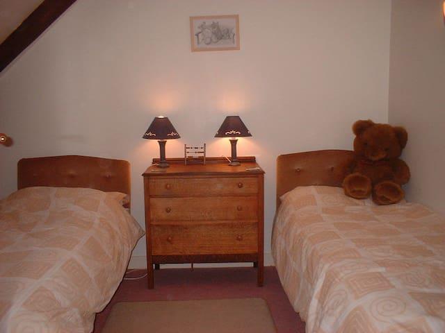 Twin beds in bedroom 2