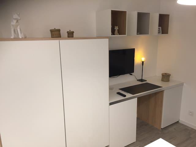 Petit studio proche tram vrai lit N°2 - Nantes - Apartment