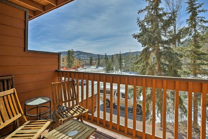 You'll have mountain views from the private deck and access to area attractions.