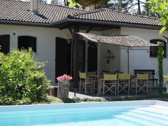 Holiday home with swimming pool. Pines and garden. - Cestas - Rumah