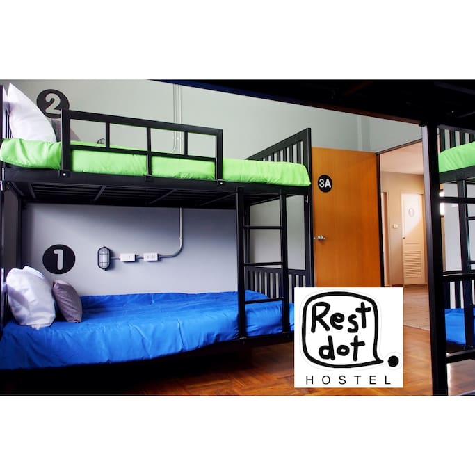 6 mixed dorm- 5,000 baht per month. Shared bathroom. 5 minutes walk to skytrain and subway station. restdothostel@hotmail.com