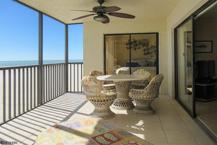 FABULOUS BEACHFRONT CORNER CONDO at CARLOS POINTE w/ Million$ Gulf View! Heated Pool!  CP421